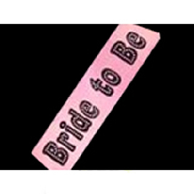 Pink Hen Party Bride to Be Sash