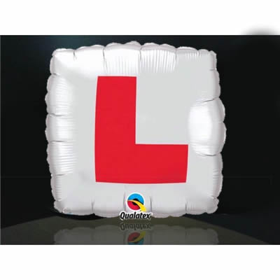 L-plate Foil Balloon