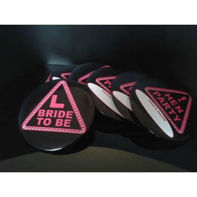 Hen Night Party Badges X7