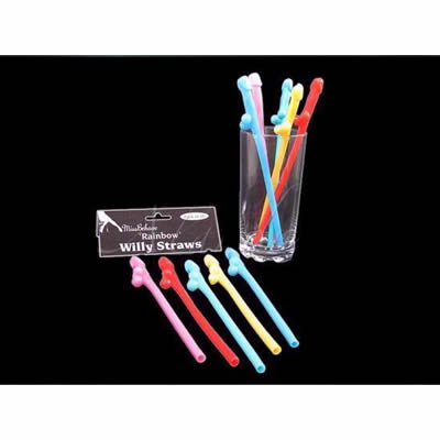 Pack of 10 Willy Straws