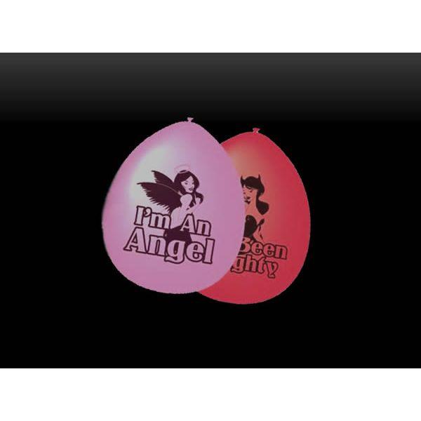 Latex Good girl Bad Girl Balloons x10