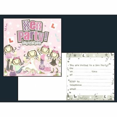 Hen Party Invitations x6